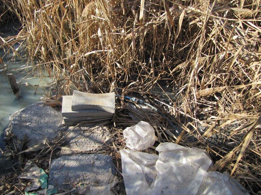 Журналисты нашли, кто загрязняет Песчанский ручей в Мелитополе  (фото), фото-4