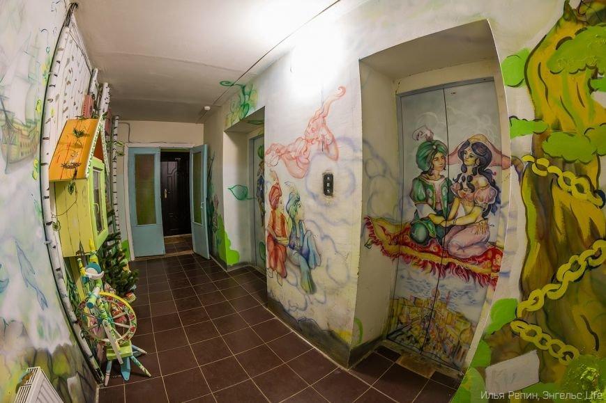В Энгельсе появился уникальный разрисованный подъезд, фото-3