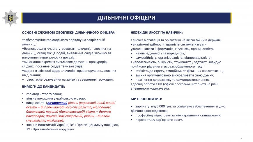 Розпочався набір на зайняття посад дільничних офіцерів поліції в Житомирській області (ДЕТАЛЬНА ІНФОРМАЦІЯ), фото-4