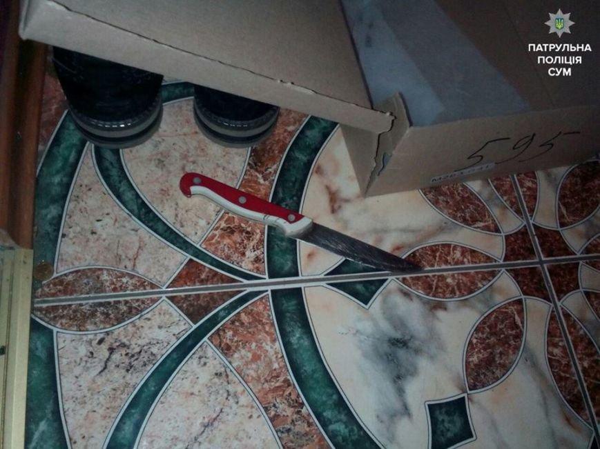В Сумах пьяный парень избил гостя и угрожал своей девушке ножом (ФОТО), фото-1