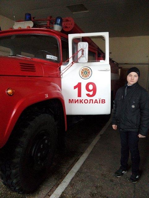 Николаевские школьники побывали на экскурсии в пожарной части (ФОТО), фото-1