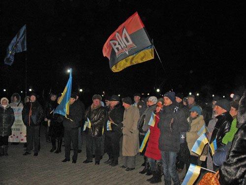 Активисты Краматорска отметили годовщину первого дня Евромайдана, фото-1