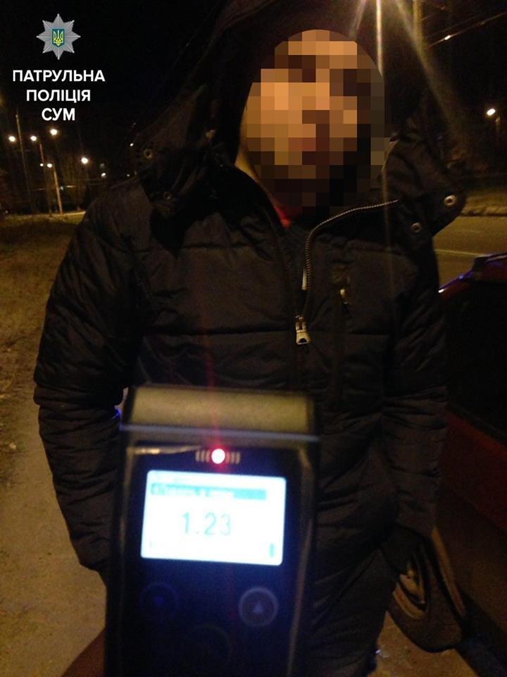 В Сумах пьяный водитель ночью ездил с выключенными фарами (ФОТО), фото-1