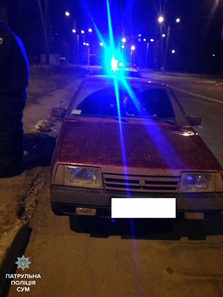 В Сумах пьяный водитель ночью ездил с выключенными фарами (ФОТО), фото-2