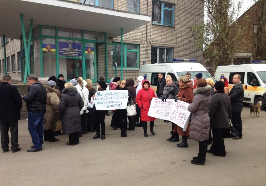Персонал Никопольской станции скорой помощи продолжает отстаивать своё здание (фото), фото-20