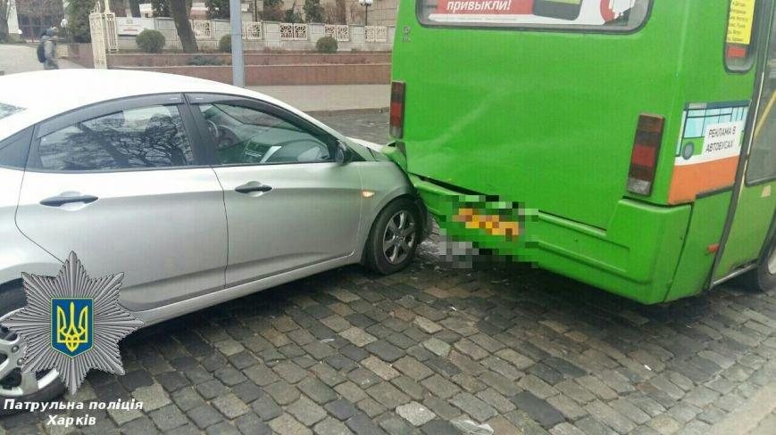 "На Сумской иномарка ""догнала"" маршрутный автобус (ФОТО), фото-3"