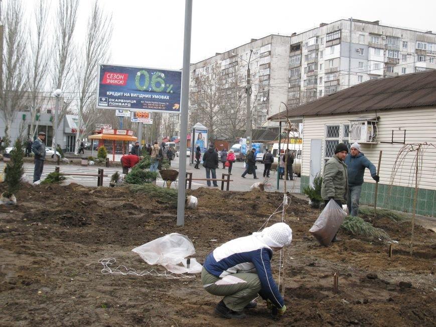 Зеленый сквер создают возле шахматной школы (фото), фото-1