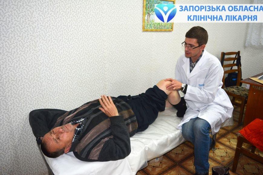 К ортопеду облбольницы обратился пациент с болью в колене