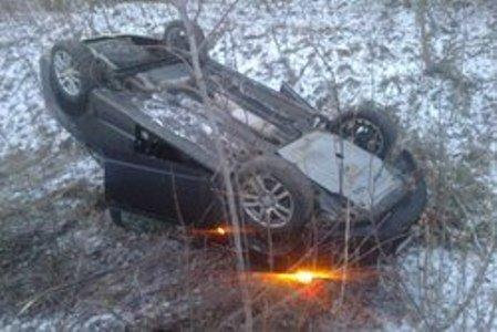 На трассе Ромны – Прилуки перевернулось авто с четырьмя людьми (ФОТО), фото-1