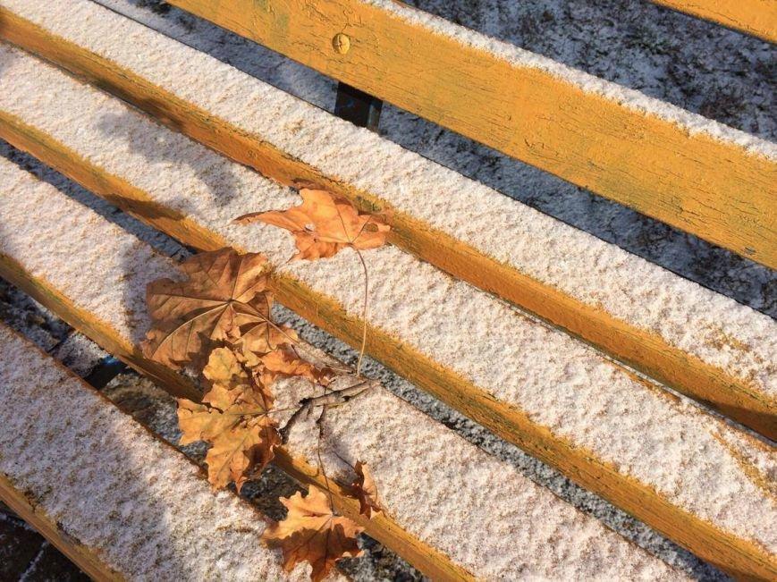 Первый снег в Мариуполе  порадовал с утра, но уже успел растаять (ФОТО), фото-5