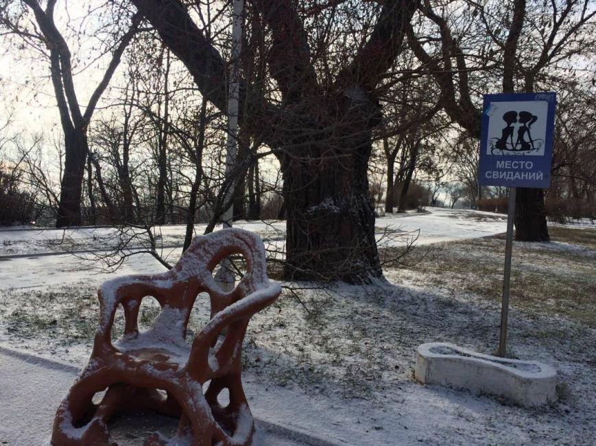 Первый снег в Мариуполе  порадовал с утра, но уже успел растаять (ФОТО), фото-6