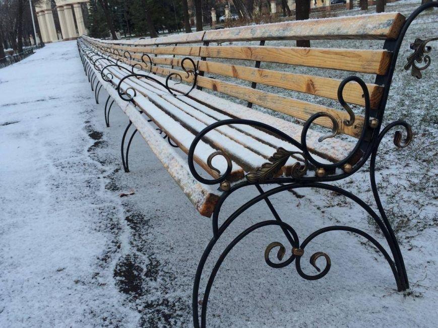 Первый снег в Мариуполе  порадовал с утра, но уже успел растаять (ФОТО), фото-11