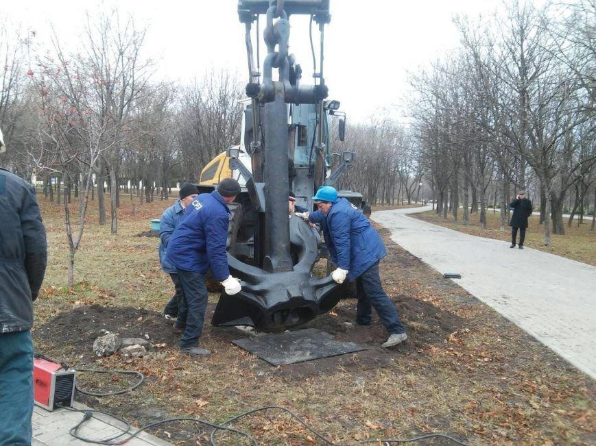 В Приморском парке Мариуполя появился третий якорь (ФОТО), фото-1