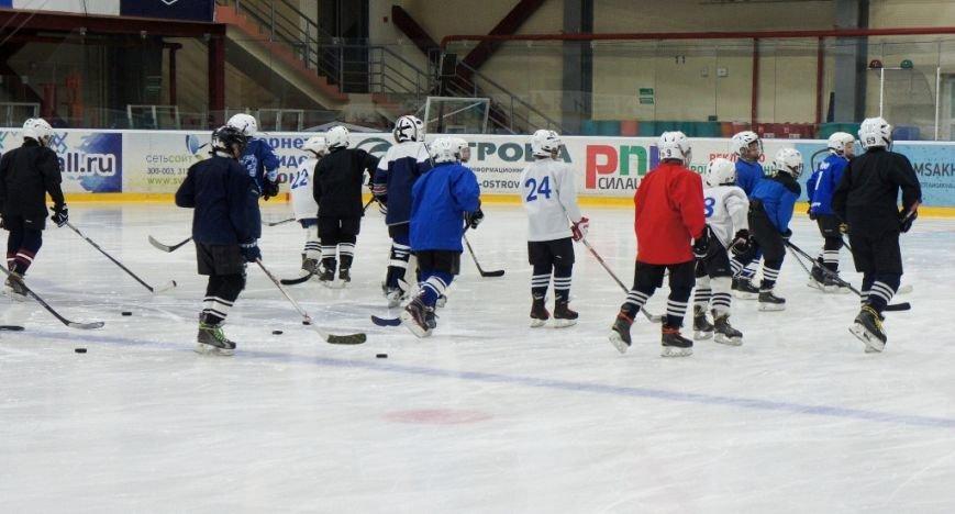 Игроки ПСК «Сахалин» поздравили юных хоккеистов «Кристалла» с профессиональным праздником, фото-2