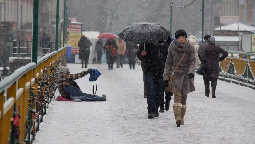 В Ужгород йде сильний сніг, фото-1