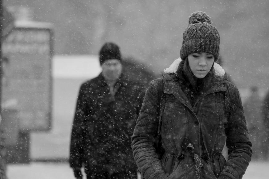 В Ужгород йде сильний сніг, фото-19