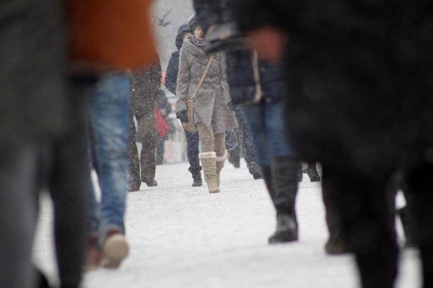В Ужгород йде сильний сніг, фото-9
