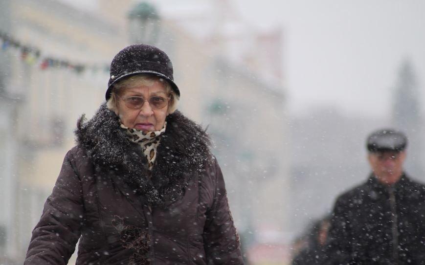 В Ужгород йде сильний сніг, фото-22