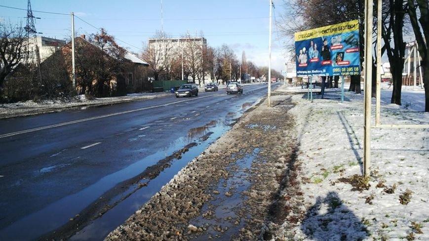 Ужгородська мерія та підприємці не справилися з першим снігом: фото, фото-1
