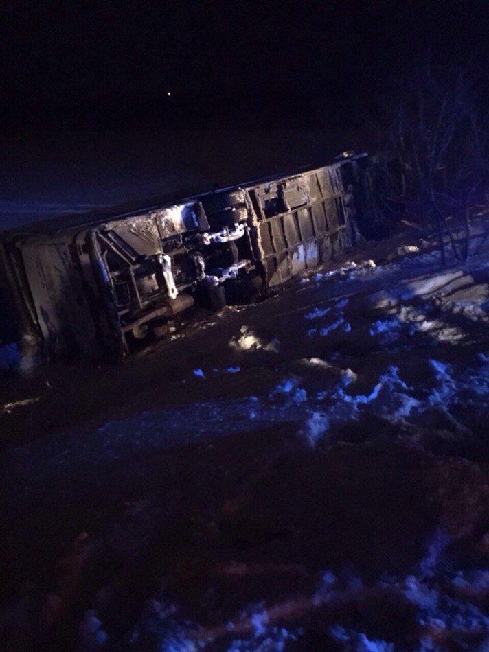 ДТП возле Каменского: перевернулся автобус с детьми, 1 человек погиб, фото-2