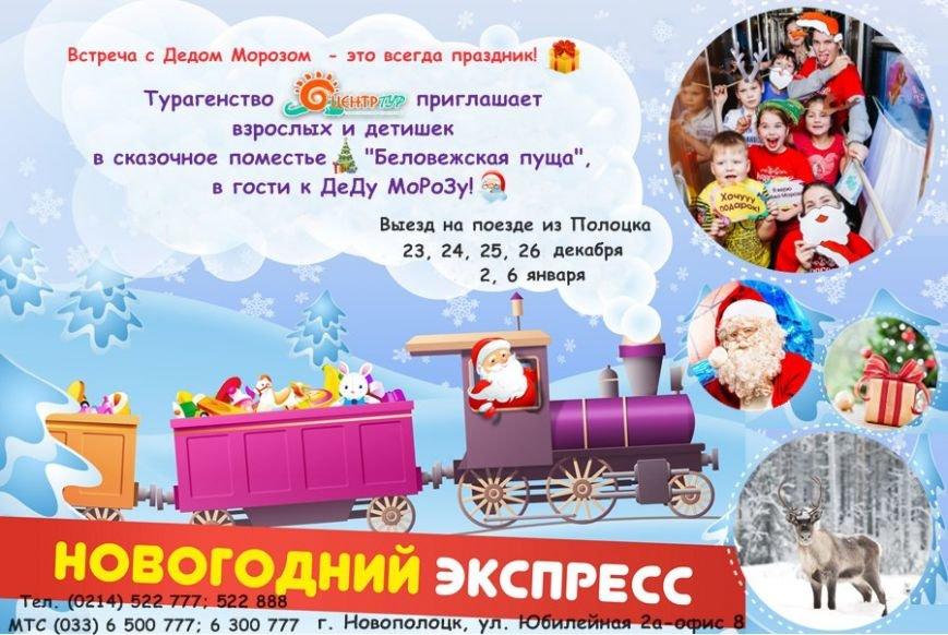 «Зимним экспрессом» в резиденцию Деда Мороза: из Полоцка запустят праздничный поезд в Беловежскую пущу, фото-1