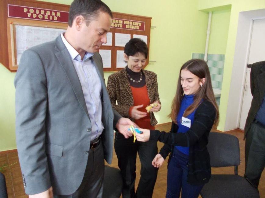 Мэр Каменского встретился с учениками 8-й школы, фото-2