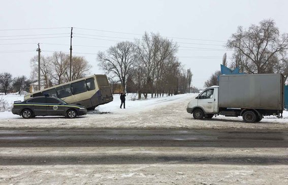 На Полтавщине произошло ДТП с участием пассажирского автобуса, фото-1