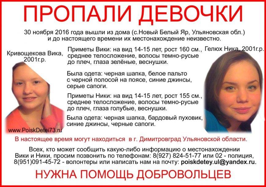 В Ульяновской области пропали две девочки, фото-1