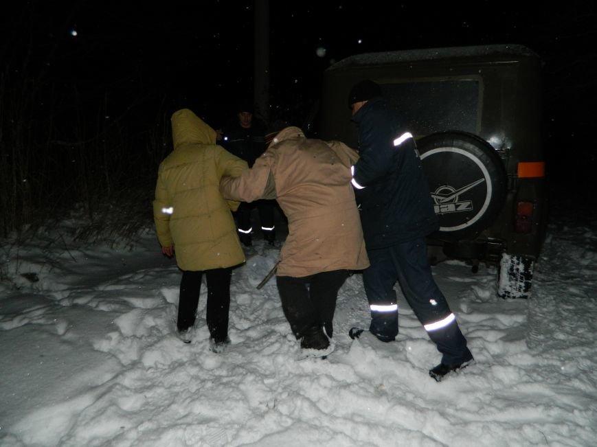 Пожилая пара попала в снежную ловушку в Каменском, фото-1