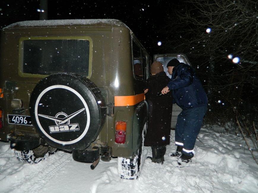 Пожилая пара попала в снежную ловушку в Каменском, фото-2