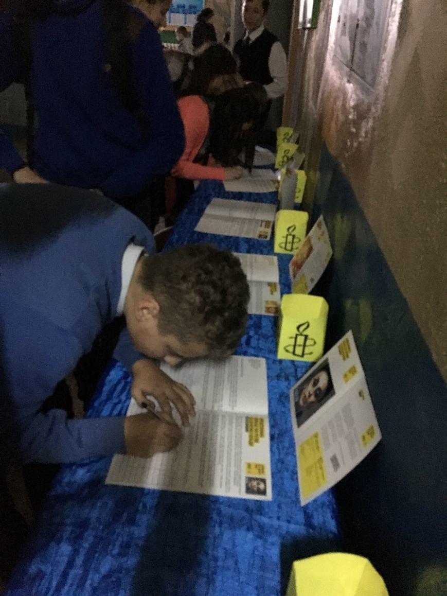 Студенты и школьники Кривого Рога поддержали несправедливо заключенных (ФОТО), фото-4