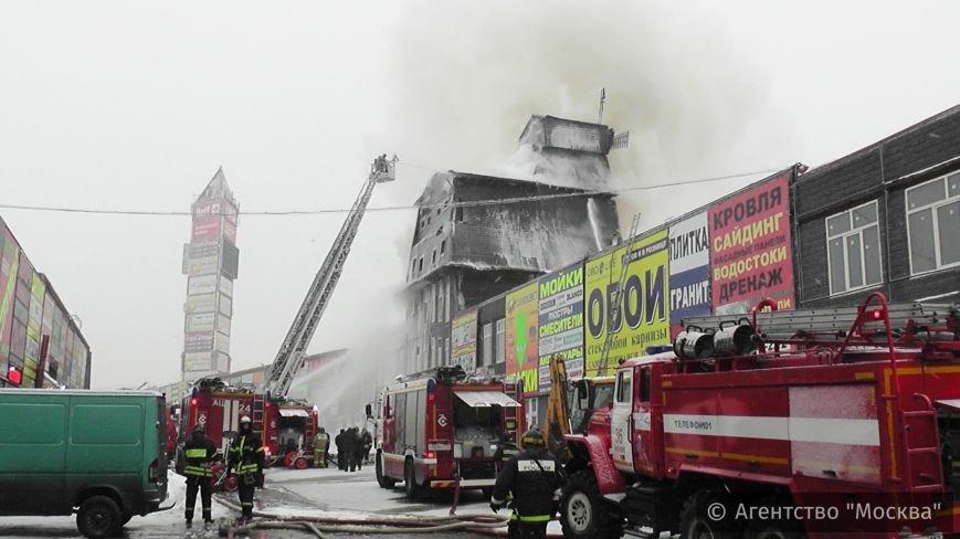 Сгорела деревянная мельница на рынке в Теплом Стане (ФОТО,ВИДЕО), фото-1