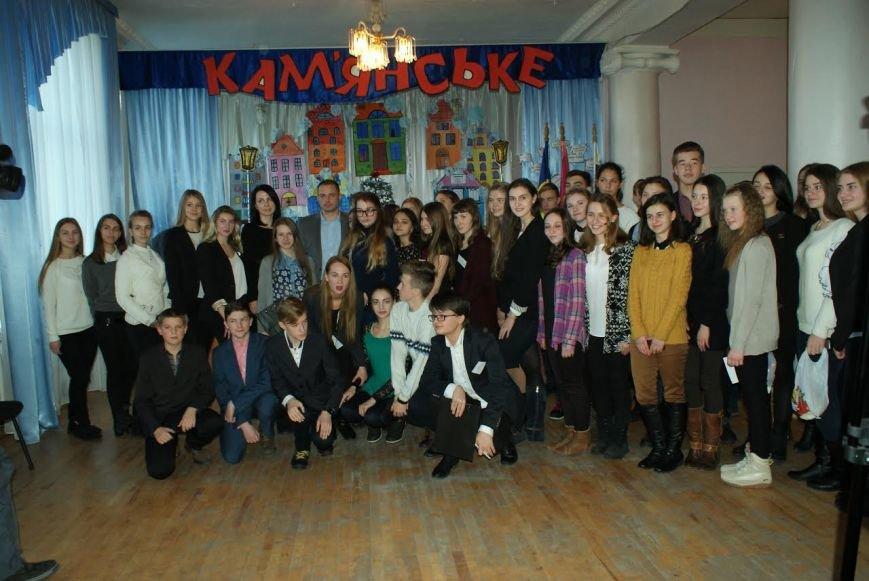 Власти Каменского встретились со школьниками, фото-5