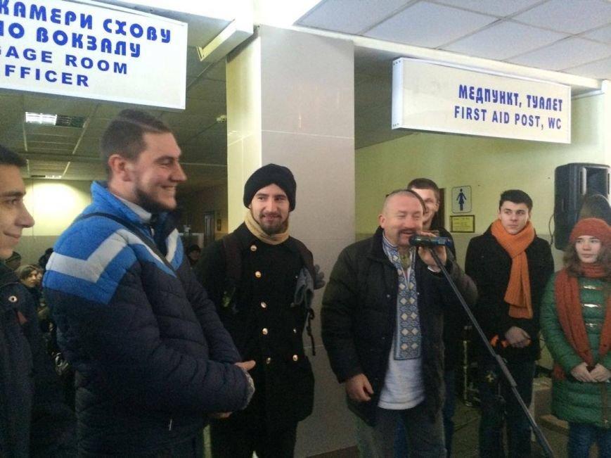 В Мариуполе встретили пассажиров  уникального поезда, объединяющего Украину (ФОТО, ВИДЕО), фото-5