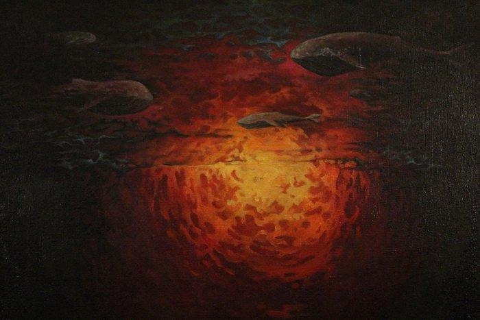 «У кого-то и вовсе в голове гуляет ветер, а у меня живут киты». В «Арт-пространстве» состоялась дебютная выставка витебской художницы-воло..., фото-1