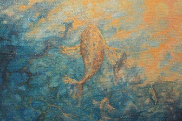 «У кого-то и вовсе в голове гуляет ветер, а у меня живут киты». В «Арт-пространстве» состоялась дебютная выставка витебской художницы-воло..., фото-5