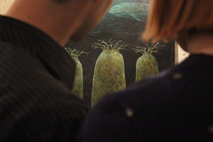 «У кого-то и вовсе в голове гуляет ветер, а у меня живут киты». В «Арт-пространстве» состоялась дебютная выставка витебской художницы-воло..., фото-6