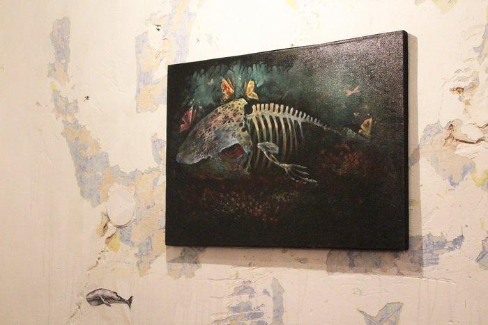 «У кого-то и вовсе в голове гуляет ветер, а у меня живут киты». В «Арт-пространстве» состоялась дебютная выставка витебской художницы-воло..., фото-8