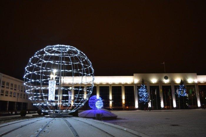 Огни ночного города. Как выглядит центр Новополоцка накануне праздников, фото-7