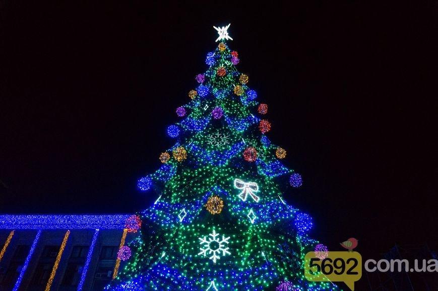 В Каменском тысячи горожан пришли на открытие новогодней елки и ледового катка, фото-7