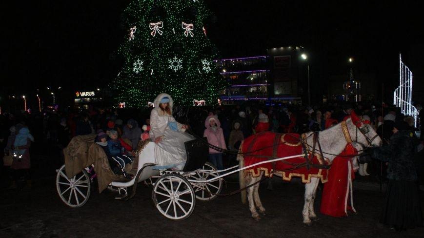 В Каменском тысячи горожан пришли на открытие новогодней елки и ледового катка, фото-3