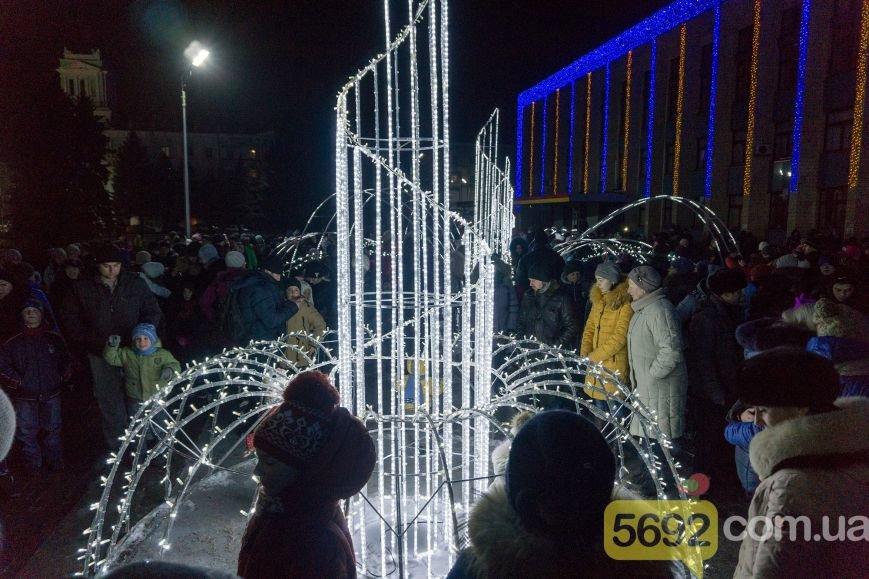 В Каменском тысячи горожан пришли на открытие новогодней елки и ледового катка, фото-2