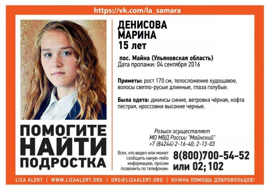 В Ульяновской области пропала 15-летняя девочка, фото-1