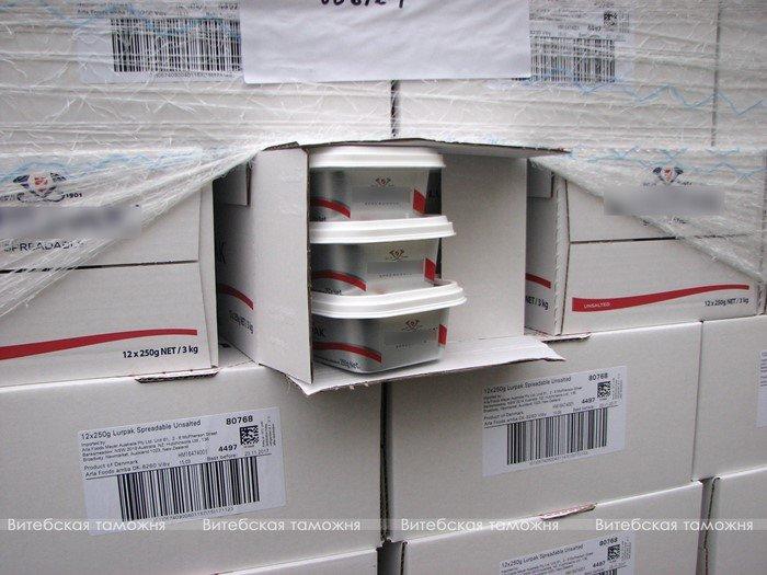 Витебские таможенники изъяли 19 тонн сливочного масла, которое везли из Дании, фото-1