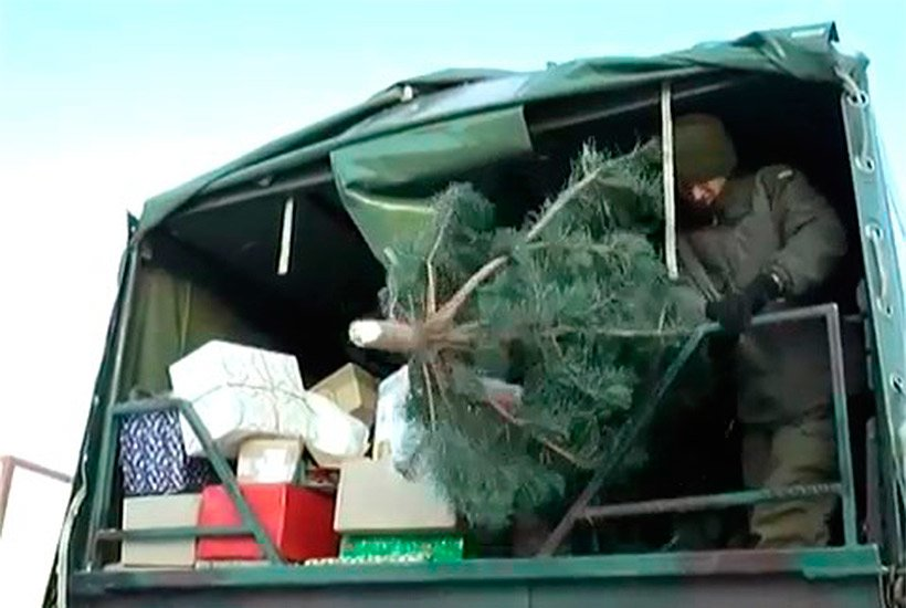 Нацгвардійці доставили новорічні ялинки військовим та дітям Слов'янська, фото-1