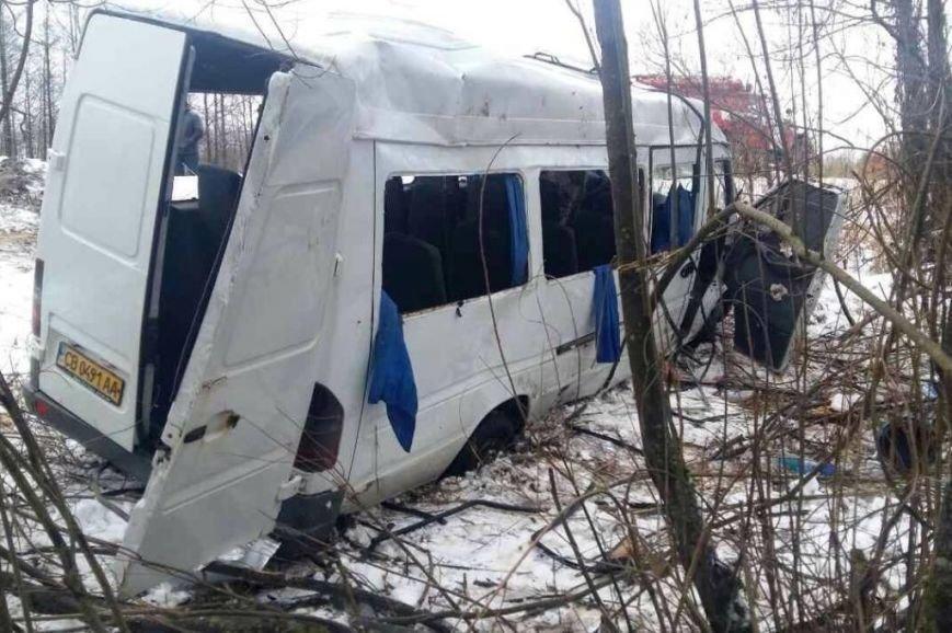 В Черниговской области в ДТП пострадало 18 пассажиров маршрутки, фото-1