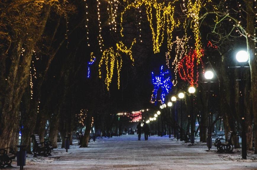 Огни ночного города-2. Как выглядит Полоцк накануне праздников, фото-1
