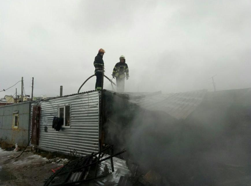 Пожар в Петропавловской Борщаговке, фото-1