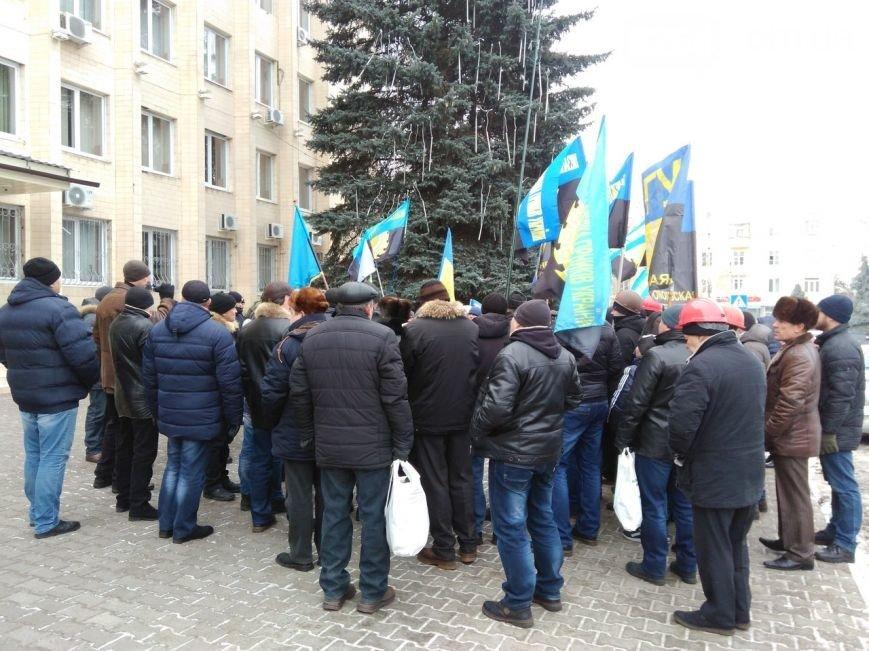 В Краматорске бастуют шахтёры, фото-3