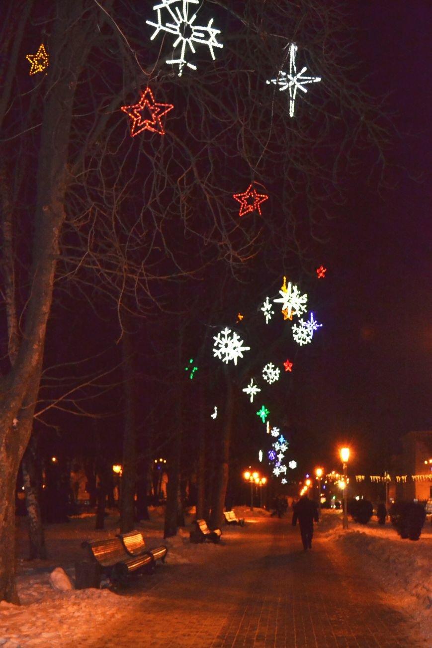 Как выглядит Полтава ночью накануне Нового Года, фото-1